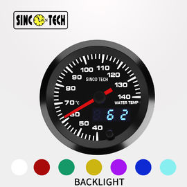 7 Color Sinco Tech Dash 636 Sensor Water Temperature Gauge