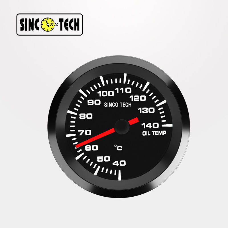 638 Sensor White Sinco Tech Dash Lcd Display Oil Temperature Gauge